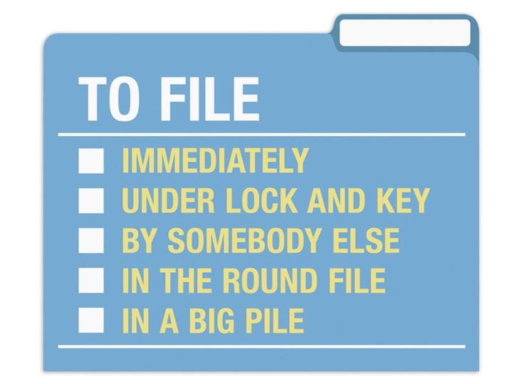 Do/Ponder/File File Folders from KnockKnock. Prioritize your filing! #springorganizing