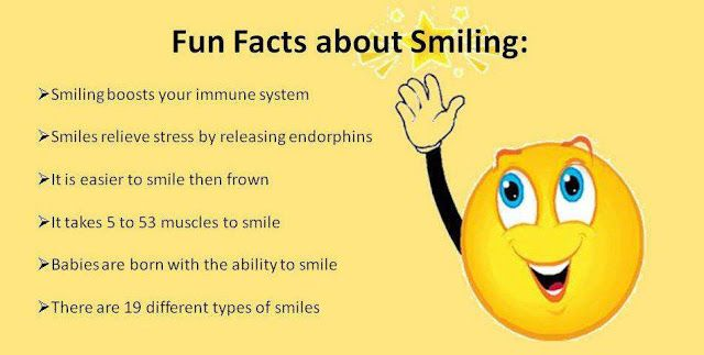 fun facts about smiling: smiling boosts your immune system smiles,