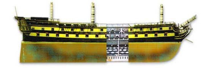 El San Pedro Alcántara fue uno de los tres navíos de sesenta y cuatro cañones, de dos puentes construido por el  primer ingeniero naval de la Real Armada española Romero y Fernández  de Landa