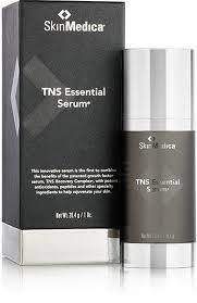 TNS Essential Serum, a comprehensive rejuventation product with growth factors, antioxidants, peptides, and specialty ingredients. — at Bella Via Skin and Body Therapies.