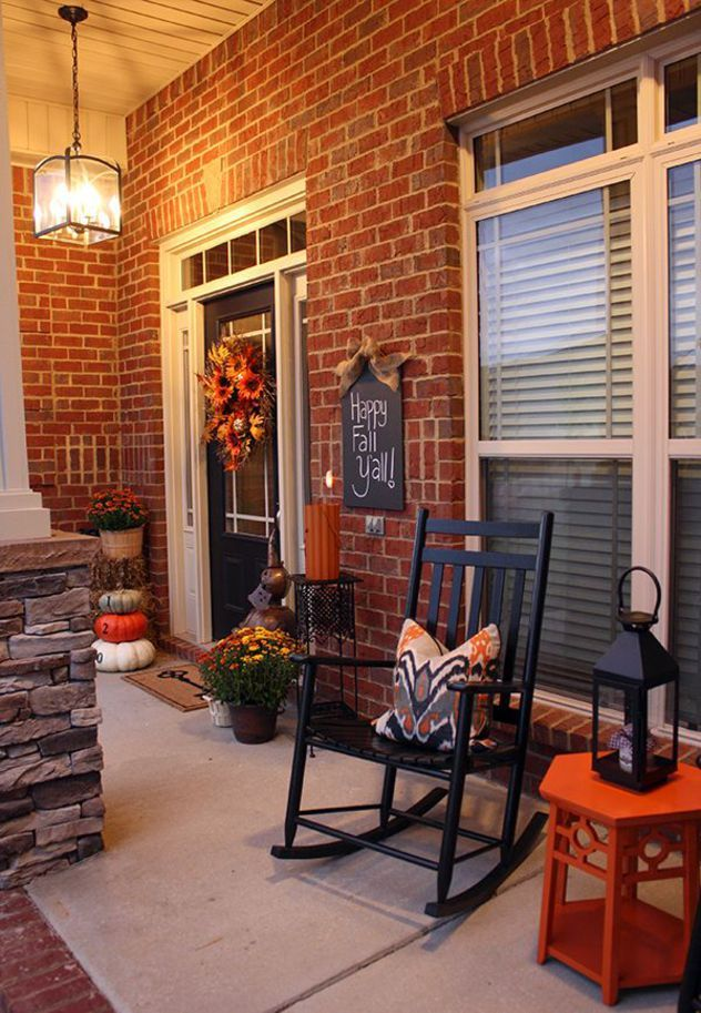Fall Front Porch Decor Autumn DIY Pottery Barn...