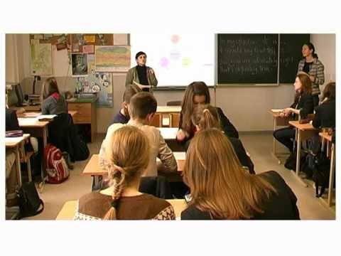 Een Aardrijkskunde les wordt gegeven in het Engels (=niet moedertaal van de studenten).