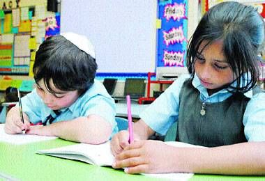 The Jewish school where half the pupils are Muslim