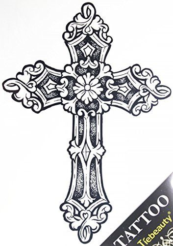 """GGSELL GGSELL tattoo size 21.5CM x 30.5 CM(8.46x12"""") non toxic and waterproof hot selling fashionable large Cross fake temporary tattoo stickers for men"""" GGSELL http://www.amazon.com/dp/B00MNCR8JY/ref=cm_sw_r_pi_dp_NNRUvb1DZCR49"""