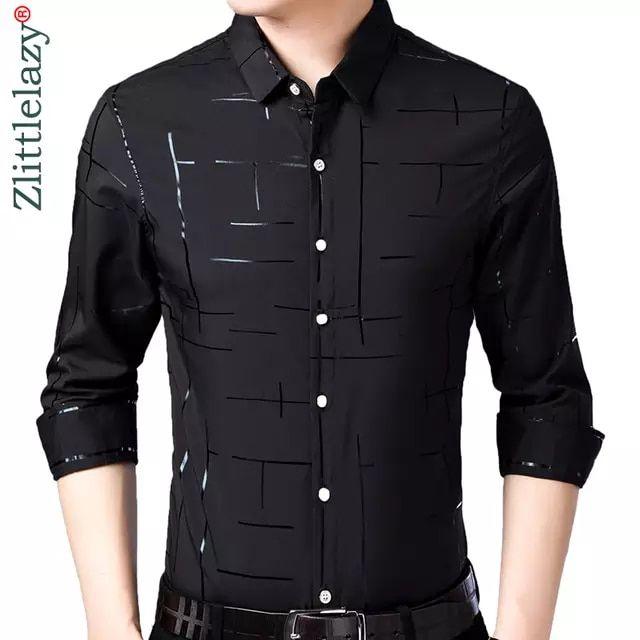Tienda Online 2019 De Marca Casual Plaid De Lujo De Talla Grande De Manga Camisa De Mezclilla Hombre Camisas Casuales Para Hombres Camisas De Moda Para Hombres