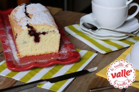 Plumcake con cuore di marmellata un dolce semplice adatto alle feste per bambini #Auguri #compleanno