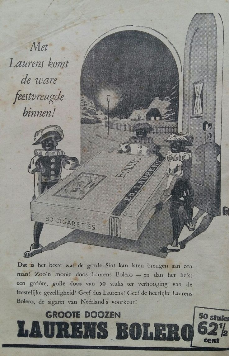 BOLERO cigaretes Sinterklaas  advertentie 1937