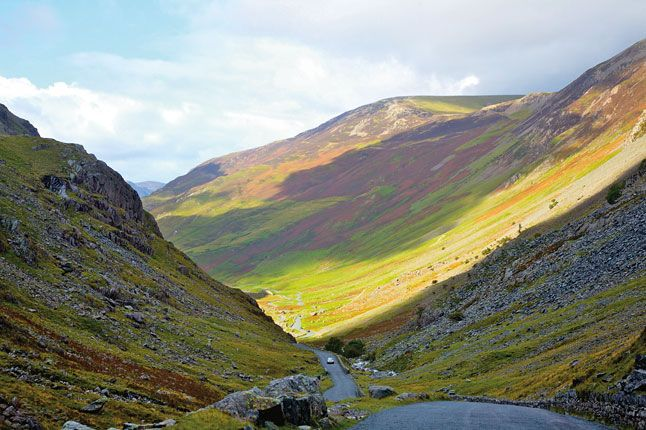 Honister Pass in the Lake District, England.