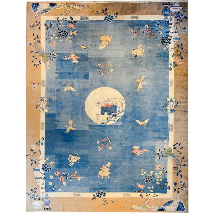 Extraordinary Chinese Peking Rug | From a unique collection of antique and modern chinese and east asian rugs at https://www.1stdibs.com/furniture/rugs-carpets/chinese-rugs/