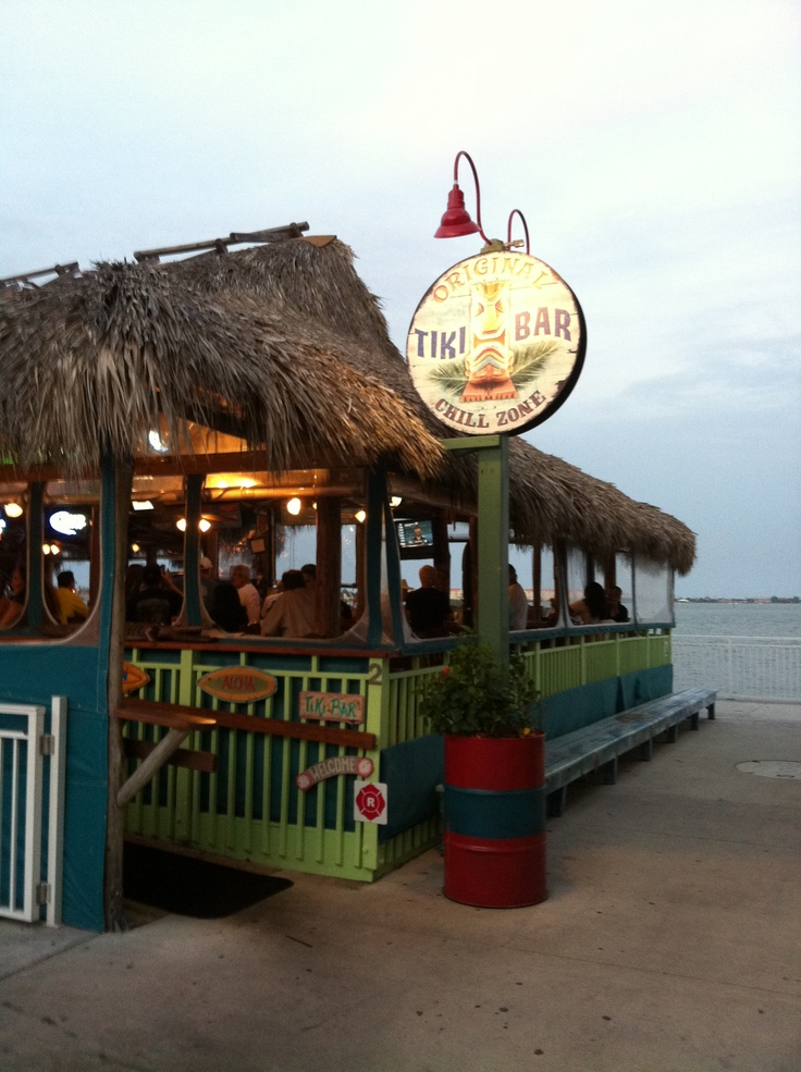 the Original Tiki Restaurant, downtown Fort Pierce, FL.  Photo by Marcy Brennan
