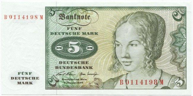 5 Deutsche Mark 1970 (Venezianerin nach Dürer) Deutsche