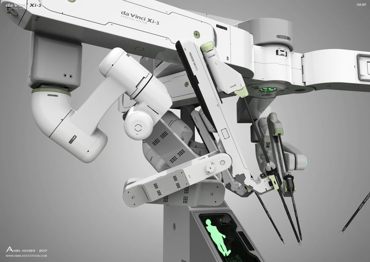 Here is a concept for a robotic surgical system based on da Vinci Xi design by Intuitive Surgical.The Xi was the fourth generation of the da Vinci system And some features included, Smaller incisions associated with minimal scarring, Less need for narcoti…