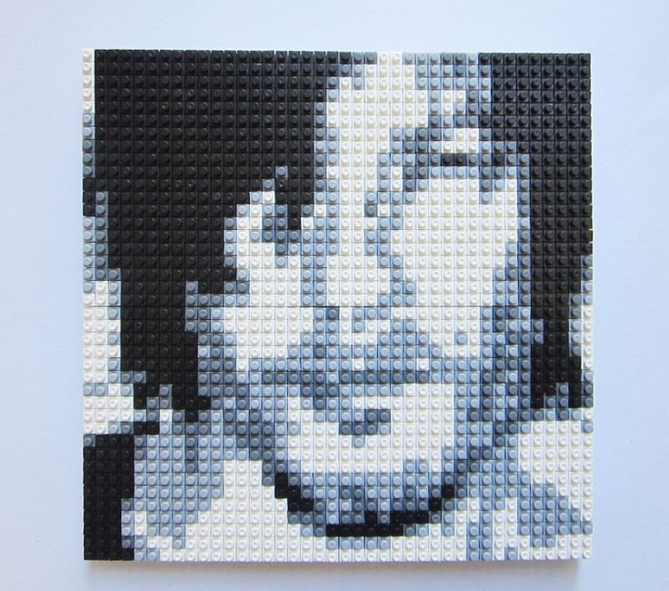 PIXEL PUZZLE Daryl Dixon The Walking Dead by GiftABrickMosaics, $79.00 I could easily use this as a pattern for a Daryl throw!!!