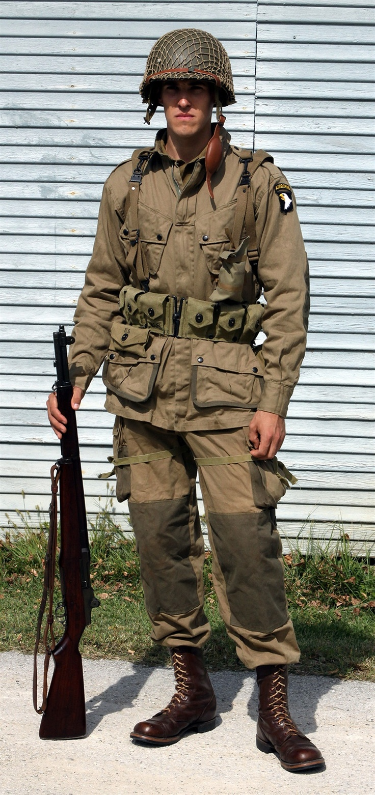 Day reenactment ww ii pictures pinterest - Wwii Paratrooper Outfit My Grandpa Was One Not Sure What War Though I Need To Confirm