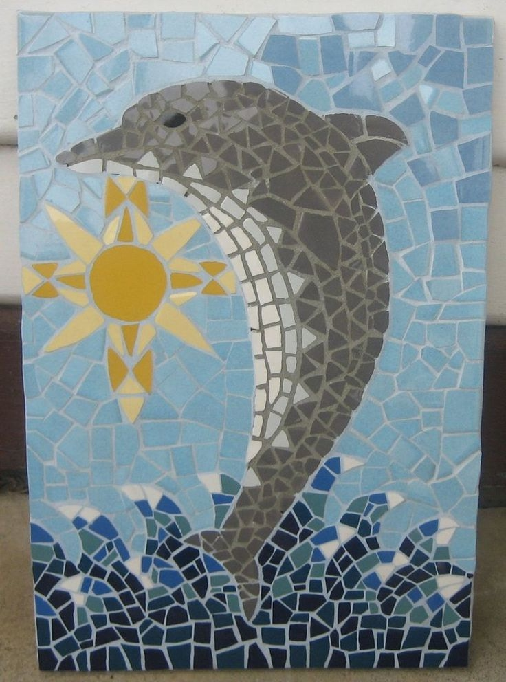 7 Best Dolphin Mosaic Images On Pinterest Mosaic Art