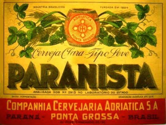Cervejaria Adriatica - Cerveja Paranista (Ponta Grossa/PR)