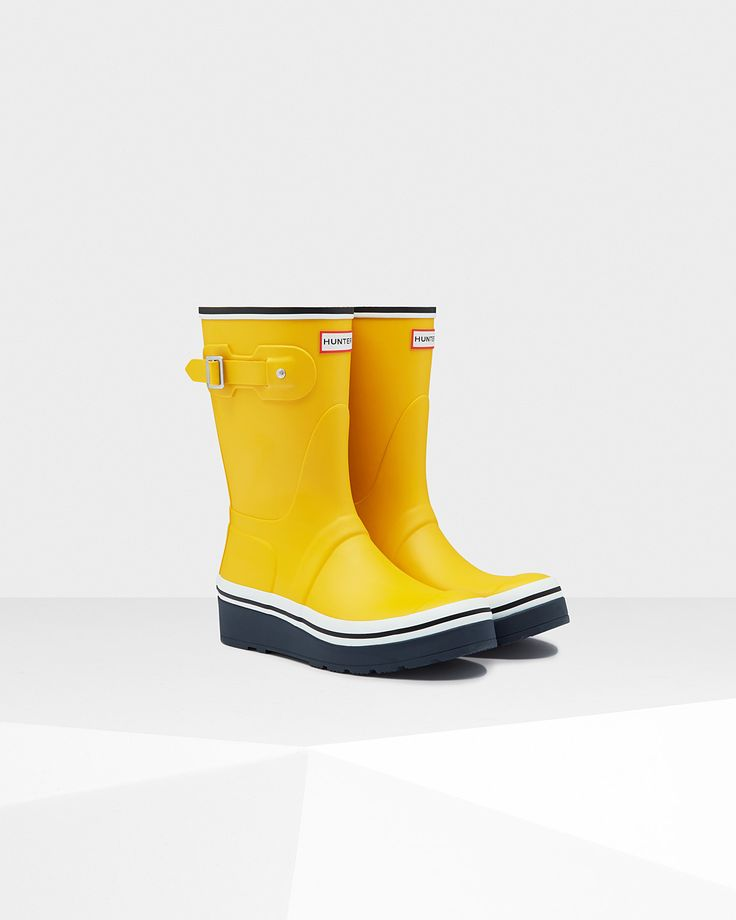 Women'S Original Buoy Stripe Wedge Boots   Official Hunter Boots Site