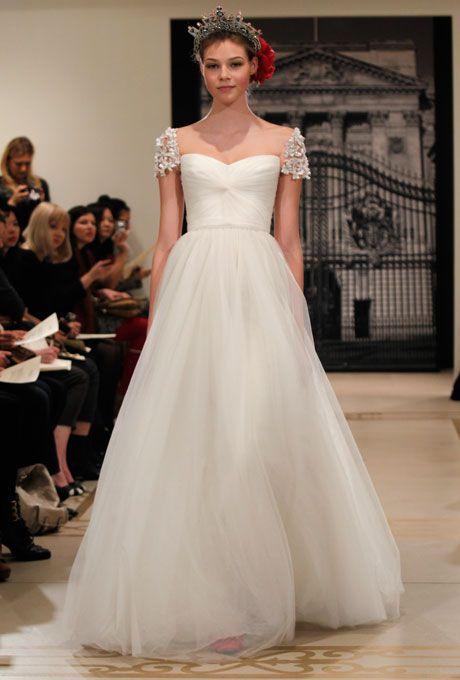 Brides.com: . Gown by Reem Acra