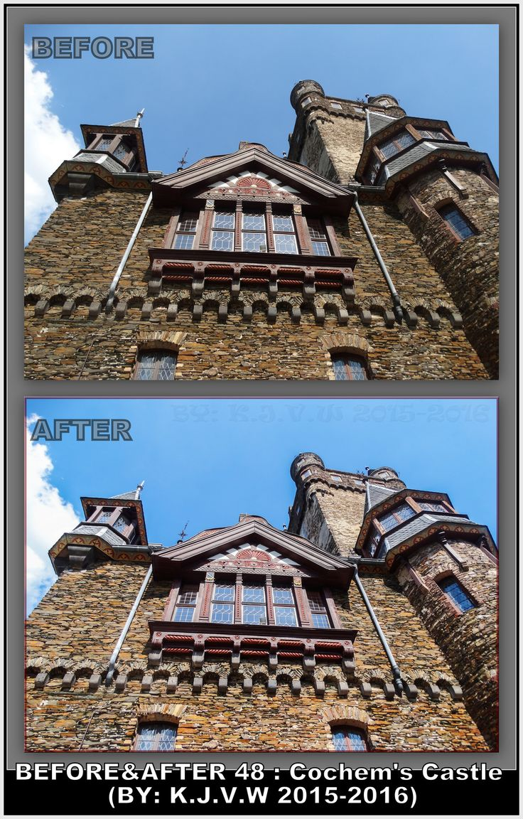 https://flic.kr/p/KpCSKD | Before AND After : 48 | What's the title?  Cochem´s Castle  Why?  Because it´s the landmark of cochem,and little german town.  Where was this?  Cochem,Germany  In what year is this made?  The photo was made in 2015, while it was edited in 2016.  What did you change?  I added some contrast to boost the exposure from sunshine, and i added a blue photo filter.  Finally, Your Plan?  1-Captured the shot 2-converted image on the PC 3-Opened image in RAW-editor (Of…