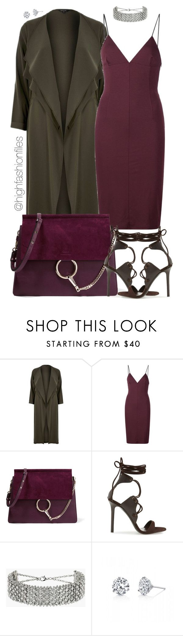 """Untitled #2633"" by highfashionfiles ❤ liked on Polyvore featuring River Island, T By Alexander Wang, Chloé, Tamara Mellon, Topshop and Harry Kotlar"