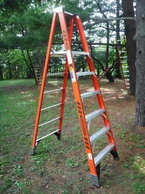 Ladders 112567: Werner Platform Ladder P7406 6 - 8 Ft 375 Lb Rated Fiberglass Step A-Frame -> BUY IT NOW ONLY: $75 on eBay!