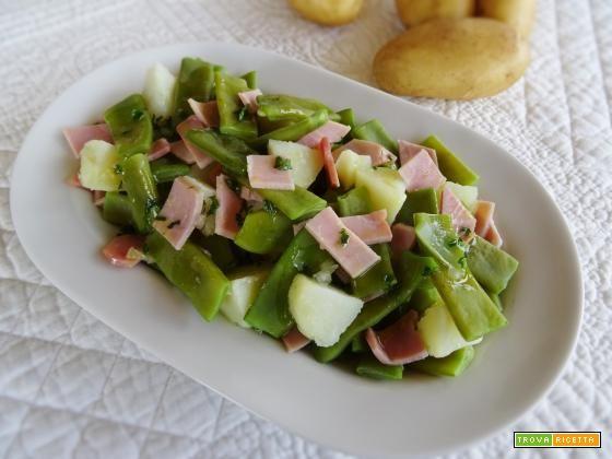 Insalata di taccole e patate novelle #ricette #food #recipes