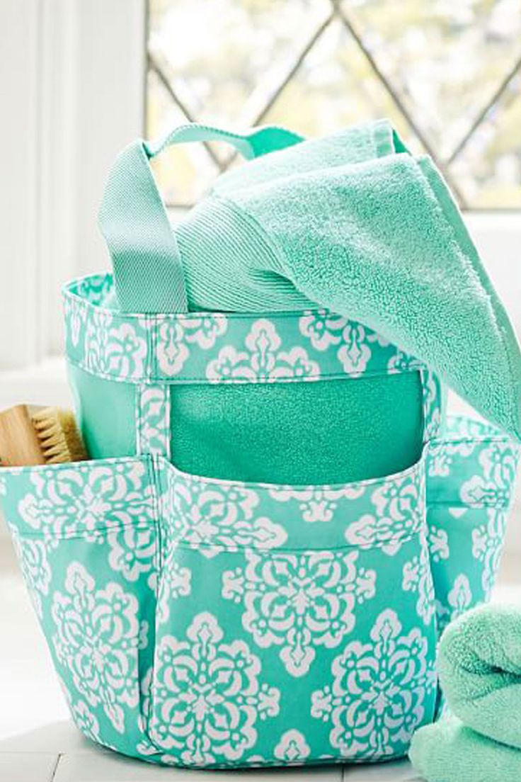 Make it so easy and chic to cart your shower gear to and from the bathroom! The mesh bottom and sides keep it dry and mildew-free. Student Shower Set, $44, pbteen.com   - Seventeen.com