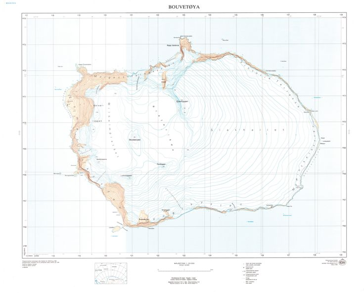 Carte de l'île Bouvet