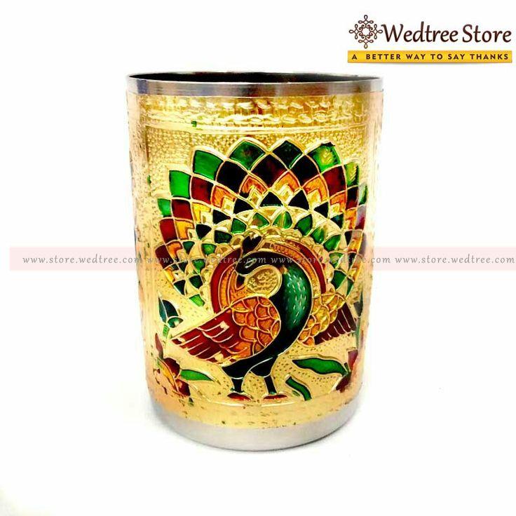 Minakari Glass - Wedding return gift - www.wedtree.com