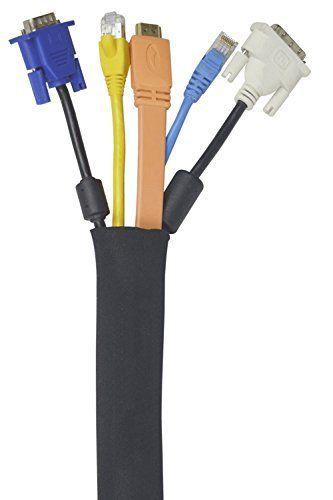 Manche Pour La Gestion Des Câbles   5 Paquets   Organiseur du Câble Noir 50cm Fait De Qualité Premium En Néoprène Flexible   Organiseur du…