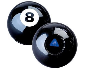 the 8 ball represents that her life has not been decided for her and she has relied on others to make her decisions until now.