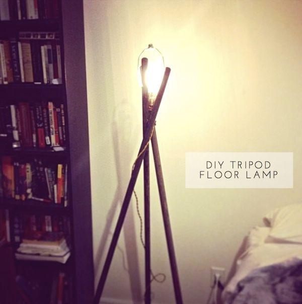 1000 ideas about diy floor lamp on pinterest copper for Homemade floor lamp ideas