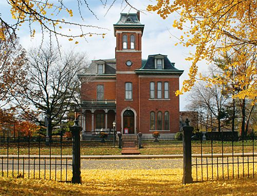 Morris butler house second empire style in indiana photo for Butler building homes