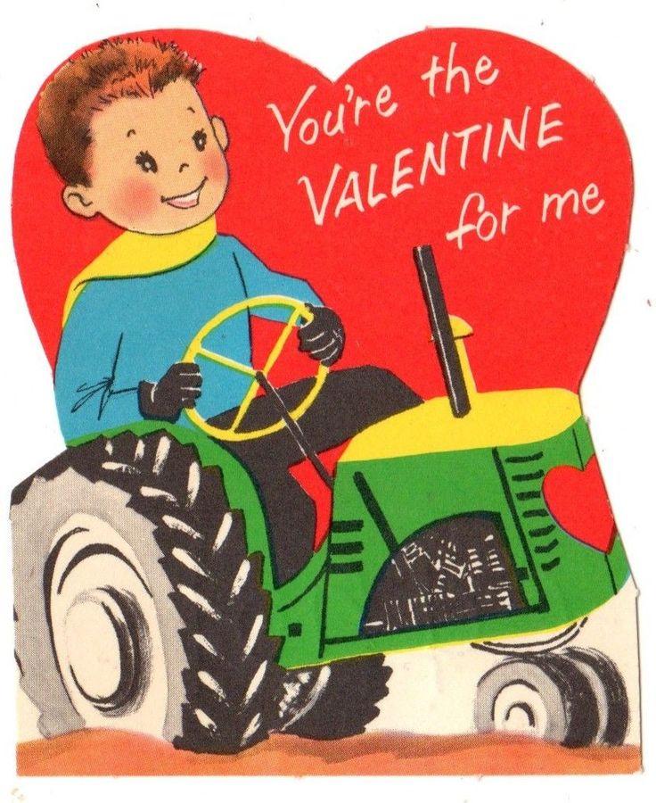 Tractor Valentine Cards : Best images about vintage valentine cards farming