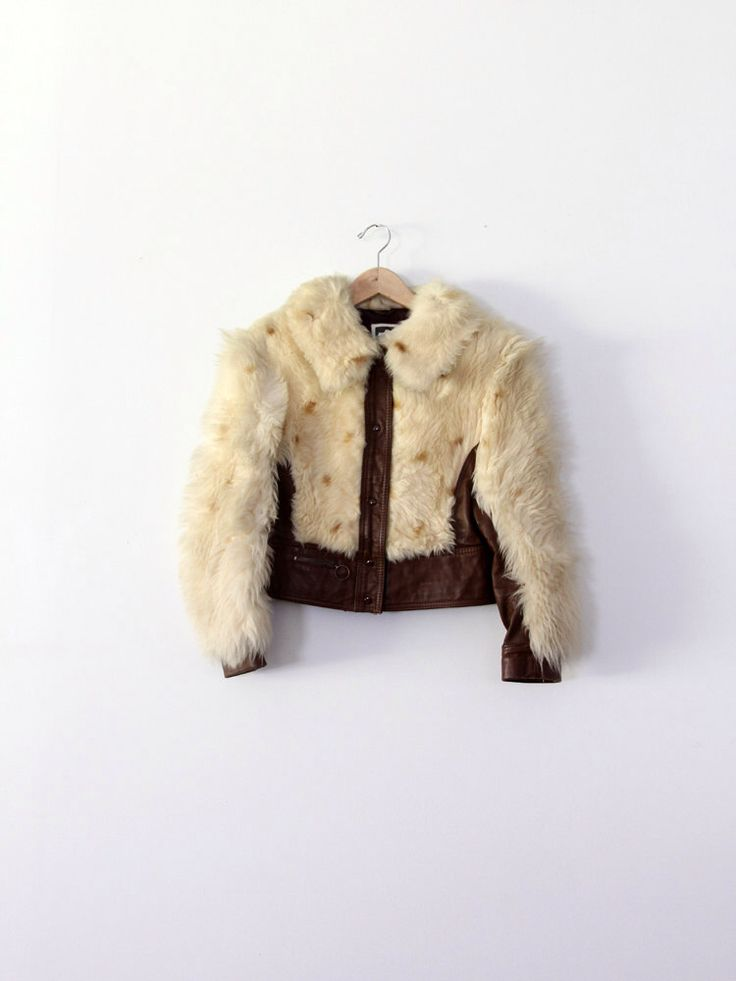 1970s leather jacket with fur by 86Vintage86 on Etsy https://www.etsy.com/listing/119589125/1970s-leather-jacket-with-fur