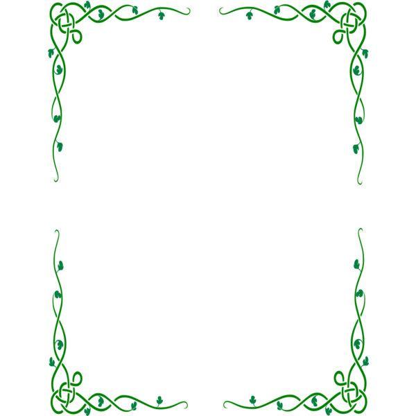 Celtic Vine Border Liked On Polyvore Featuring Frames
