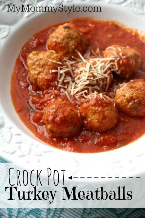 Crock Pot Turkey Meatballs from mymommystyle.com, food, recipes, crockpot recipes #turkeymeatballs #crockpot #slowcooker