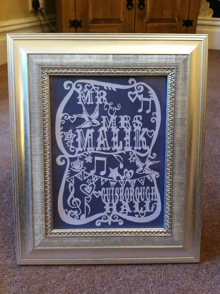 Wedding paper cutting Guisborough Hall, £30 framed
