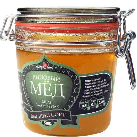 """Μέλι """"Φλαμουριάς"""" (γιάλινο βάζο) 500 gr"""