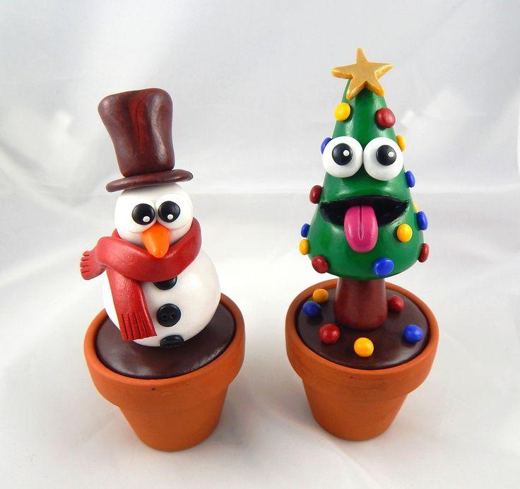 Les 25 meilleures id es de la cat gorie bonhomme de neige fimo sur pinterest fimo no l - Decoration noel pate fimo ...