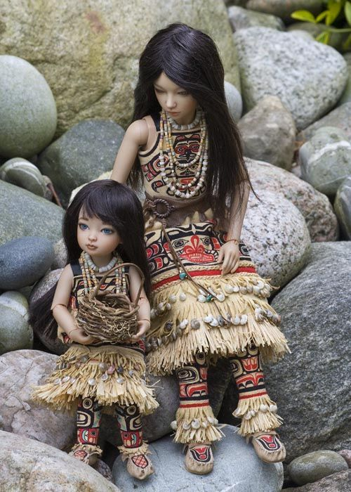 Not Native Made -  Native style doll by Martha Boers Canadian artist.