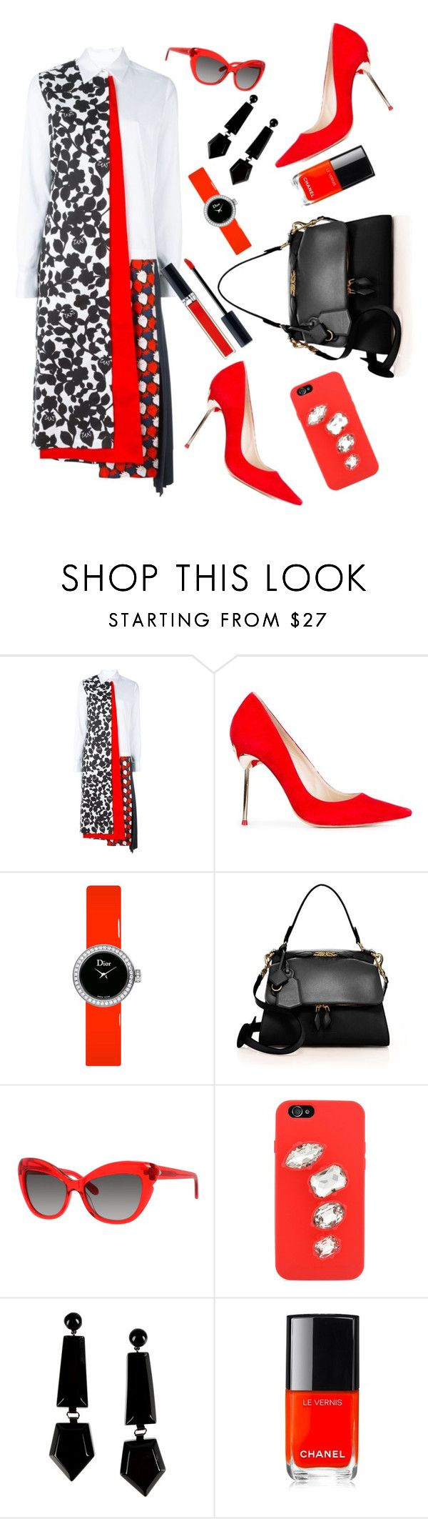 """Untitled #1023"" by lisacom ❤ liked on Polyvore featuring Victoria, Victoria Beckham, Sophia Webster, Christian Dior, Victoria Beckham, Kate Spade, STELLA McCARTNEY, Emporio Armani and Chanel"