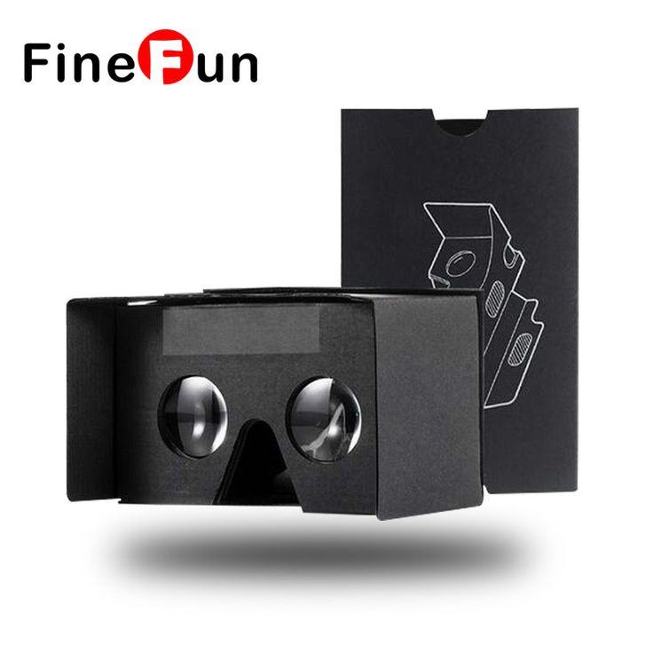 FineFun Virtual Reality Goggles Cardboard Cardbord Carboard Video 3 D Reald Lunette Casque 3D VR Glasses for IOS Adnriod