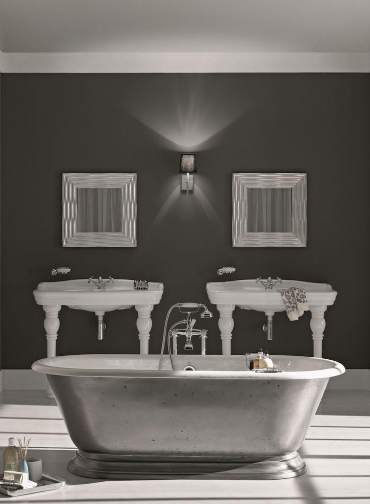 #Vasca da #bagno in #ghisa di design con finitura lucida Pierce. By Viadurini Collezione Bagno. [www.viadurini.it]