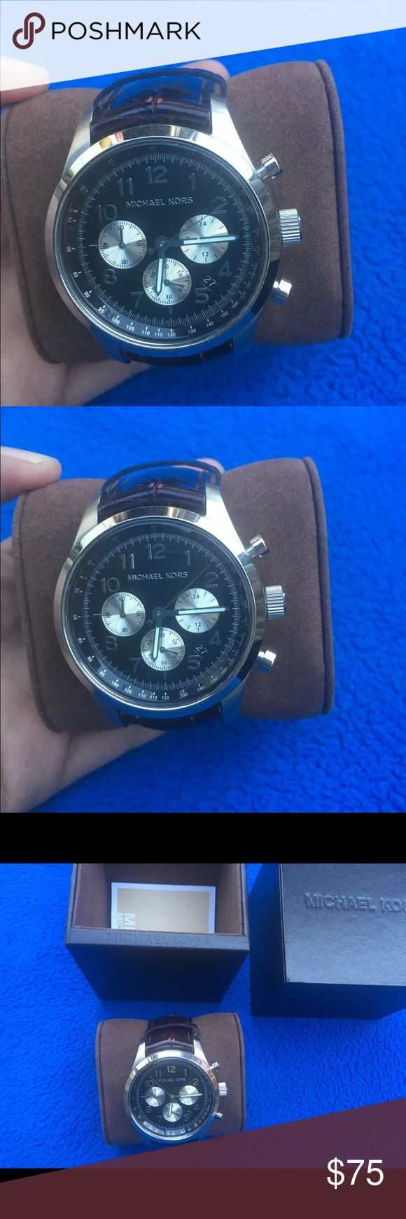 """Michael Kors MK8126 Mens Watch - Working! Authentic Michael Kors MK8126 Mens Watch - Working great and keep accurate time. Measurement: Case- 42mm diameter Band width-22mm wide Watch length- 9"""" long Great Condition! No scratches on the lens! Comes w/ Box! Michael Kors Accessories Watches"""