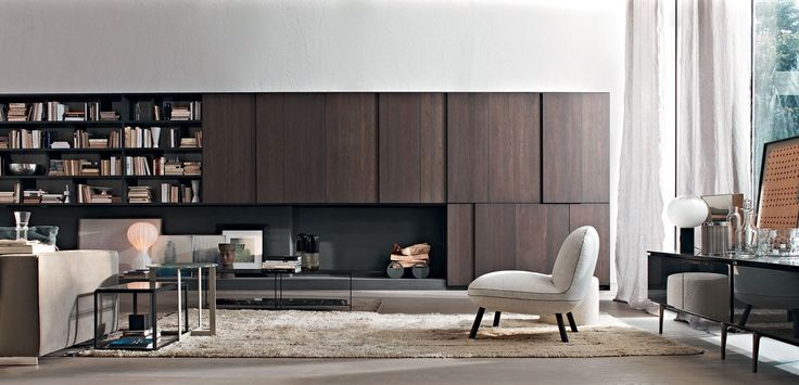 Mueble modular de pared composable de madera 505 MULTIMEDIA by MOLTENI & C. diseño Nicola Gallizia
