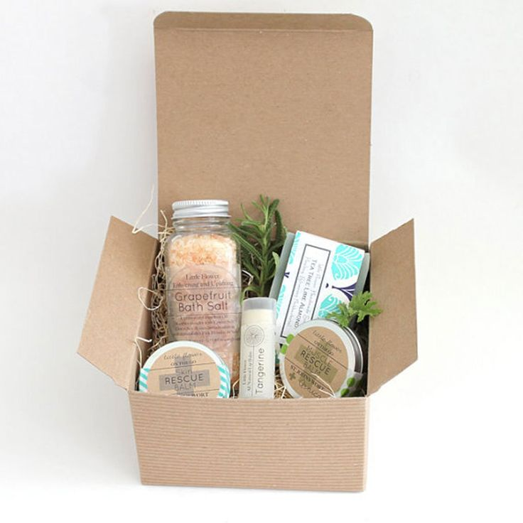 A pre-made spa gift basket from LittleFlowerSoapCo