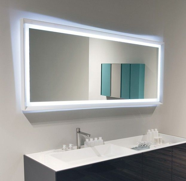 adorable large rectangular bathroom mirror. Large Bathroom Mirror Ideas On White Painting Wall And Blue Lighting 32 best mirrors images on Pinterest  furniture