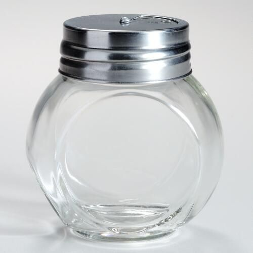 One of my favorite discoveries at WorldMarket.com: Round Spice Jars with Metal Shaker Lids, Set of 4