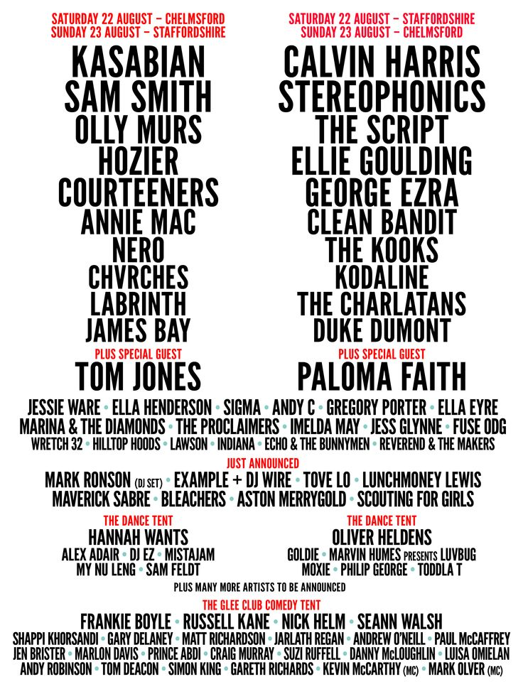 V Festival- Features Hozier and George Ezra